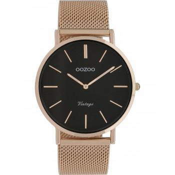 OOZOO Timepieces Vintage - C9925,  Rose Gold case with Metal Strap