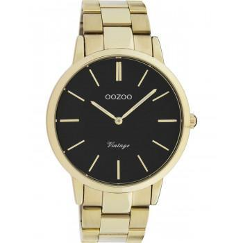 OOZOO Vintage - C20023, Gold case with Stainless Steel Bracelet