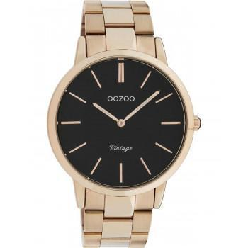 OOZOO Vintage - C20024, Rose Gold case with Stainless Steel Bracelet
