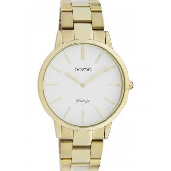 OOZOO Vintage - C20034, Gold case with Stainless Steel Bracelet