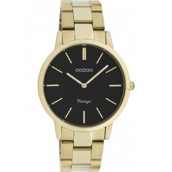 OOZOO Vintage - C20035, Gold case with Stainless Steel Bracelet