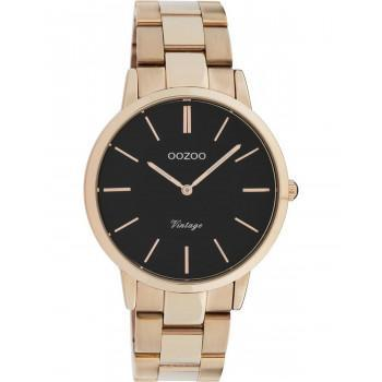 OOZOO Vintage - C20037, Rose Gold case with Stainless Steel Bracelet