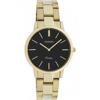 OOZOO Vintage - C20047, Gold case with Stainless Steel Bracelet