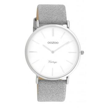 OOZOO Vintage - C20145, Rose Gold case with Grey Leather Strap