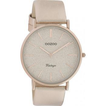 OOZOO Vintage - C20165, Rose Gold case with Rose Gold Leather Strap