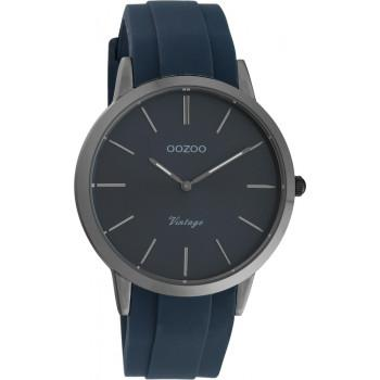 OOZOO Vintage - C20171, Grey case with Blue Rubber Strap