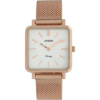 OOZOO Vintage - C9846, Rose Gold case with Metal Strap