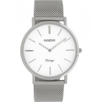 OOZOO Vintage - C9901, Silver case with Stainless Steel Bracelet