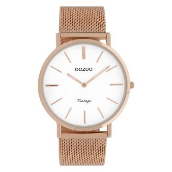 OOZOO Vintage - C9917,  Rose Gold case with Metal Strap