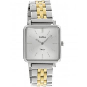 OOZOO Vintage - C9952, Silver case with Stainless Steel Bracelet