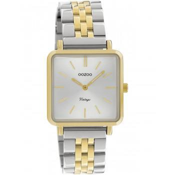 OOZOO Vintage - C9953, Gold case with Stainless Steel Bracelet