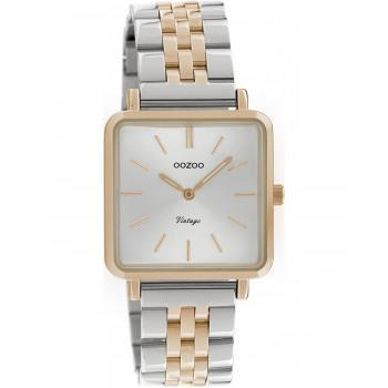 OOZOO Vintage - C9954, Rose Gold case with Stainless Steel Bracelet