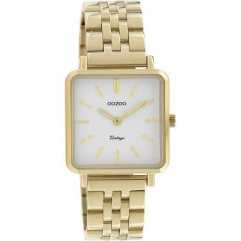 OOZOO Vintage - C9955, Gold case with Stainless Steel Bracelet
