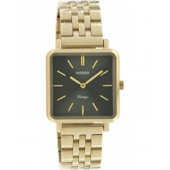 OOZOO Vintage - C9956, Gold case with Stainless Steel Bracelet