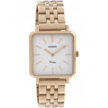 OOZOO Vintage - C9958, Rose Gold case with Stainless Steel Bracelet