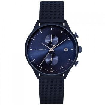 PAUL HEWITT Chrono Line  - PH003967,  Blue case with Stainless Steel Bracelet