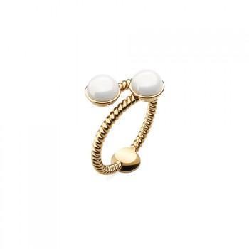 PAUL HEWITT Rope Pearl   Δαχτυλίδι από Ανοξείδωτο ατσάλι  Gold PH-FR-RoPe-G-54