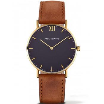 PAUL HEWITT Sailor Line   - PH-SA-G-St-B-1M,  Gold case with Brown Leather Strap