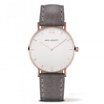 PAUL HEWITT Sailor Line  - PH-SA-R-St-W-13S,  Rose Gold case with Grey Leather Strap