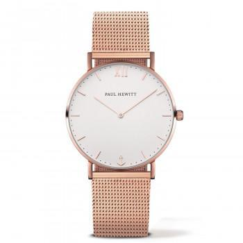 PAUL HEWITT Sailor Line  - PH-SA-R-St-W-4S  Rose Gold case with Stainless Steel Bracelet