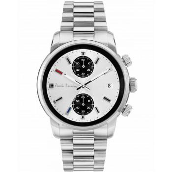 PAUL SMITH Block Chronograph  - P10034,  Silver case with Stainless Steel Bracelet