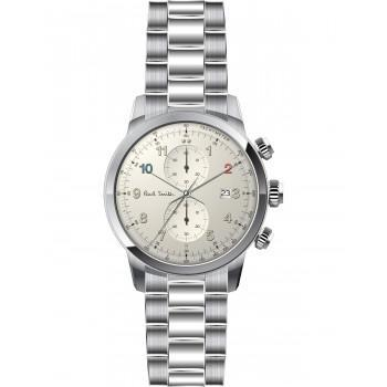 PAUL SMITH Block Chronograph - P10142,  Silver case with Stainless Steel Bracelet