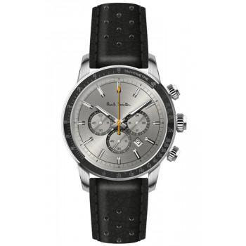 PAUL SMITH  Chronograph - PS0110002,  Silver case with Black Leather Strap