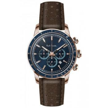 PAUL SMITH  Chronograph - PS0110006,  Rose Gold case with Brown Leather Strap