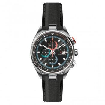 PAUL SMITH  Chronograph - PS0110011,  Silver case with Black Leather Strap