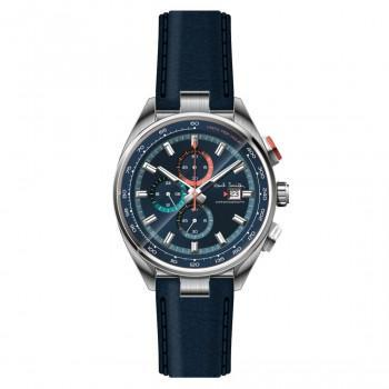 PAUL SMITH  Chronograph - PS0110012,  Silver case with Blue Leather Strap