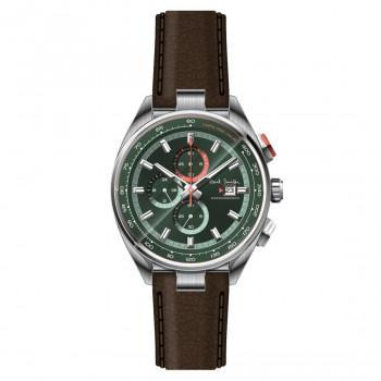 PAUL SMITH  Chronograph - PS0110013,  Silver case with Brown Leather Strap