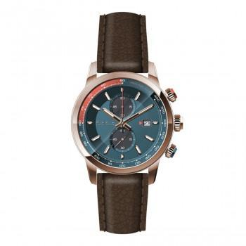 PAUL SMITH  Chronograph - PS0110022,  Rose Gold case with Brown Leather Strap