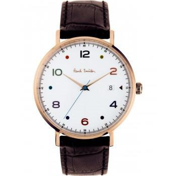 PAUL SMITH Gauge - PS0060003, Rose Gold case with Brown Leather Strap