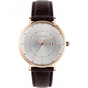PAUL SMITH Petit Track - PS0070001, Rose Gold case with Brown Leather Strap