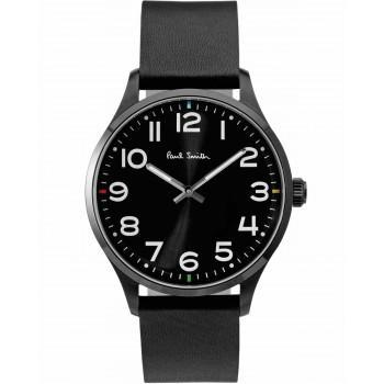 PAUL SMITH Tempo - P10062,  Black case with Black Leather Strap