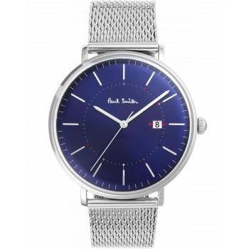 PAUL SMITH Track - P10088,  Silver case with Stainless Steel Bracelet