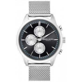 PIERRE CARDIN Champerret Mens - PC902741F01,  Silver case with Stainless Steel Bracelet