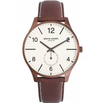PIERRE CARDIN Mens - PC902671F119, Brown case with Brown Leather Strap