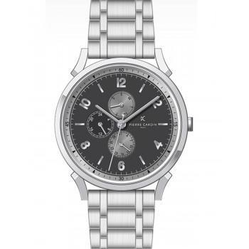 PIERRE CARDIN Pigalle –Νine - CPI.2030,  Silver case with Stainless Steel Bracelet