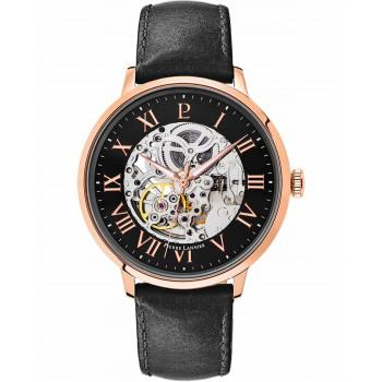 PIERRE LANNIER Automatic  Mens - 323B433  Rose Gold case with Black Leather strap