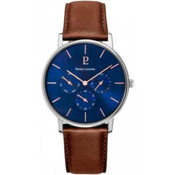 PIERRE LANNIER Cityline - 208G164  Silver case with Brown Leather strap