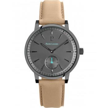 PIERRE LANNIER Classic - 216H484  Grey case with Beige Leather strap