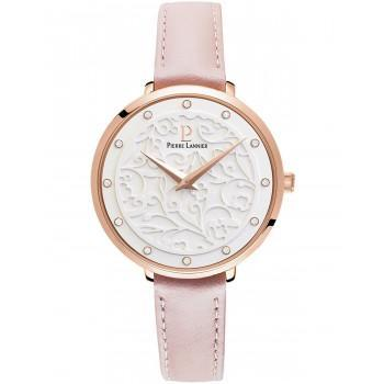 PIERRE LANNIER Eolia Crystals - 039L905  Rose Gold case with Pink Leather strap
