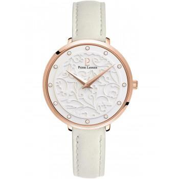 PIERRE LANNIER Eolia Crystals  - 041K600  Rose Gold case with Beige Leather strap
