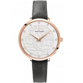 PIERRE LANNIER Eolia Crystals  - 041K609  Rose Gold case with Grey Leather strap
