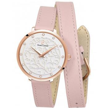 PIERRE LANNIER Eolia Crystals  - 043K905  Rose Gold case with Pink Leather strap