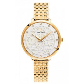 PIERRE LANNIER Eolia Crystals - 053J502  Gold case with Stainless Steel Bracelet