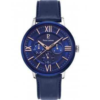 PIERRE LANNIER Gents  - 253C166  Silver case with Blue Leather strap