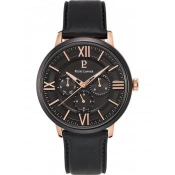 PIERRE LANNIER Gents  - 254C433  Rose Gold case with Black Leather strap