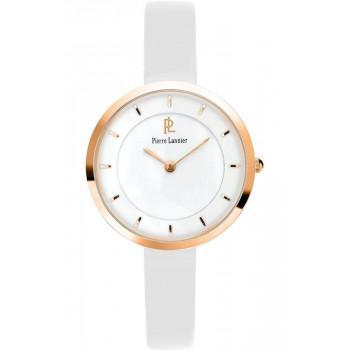 PIERRE LANNIER Ladies - 075J900  Rose Gold case with White Leather strap